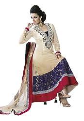 Fabdeal Women Georgette Embroidered Salwar Kameez