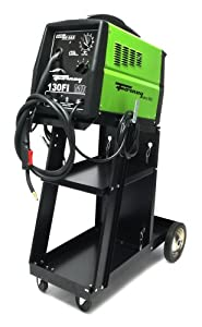 Forney 307 130FI-A Gas/No Gas Flux Core Welder with 332 Cart, 120-Volt, 130-Amp, Green from Forney