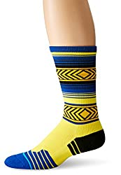 Stance Men's Tenoch Fushion Athletic Crew Sock, Gold, Small/Medium