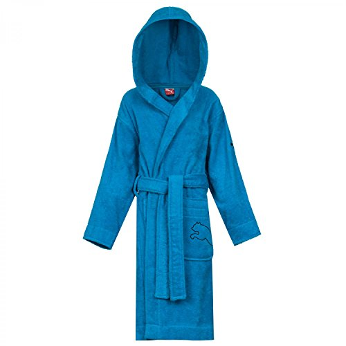 PUMA Kinder Bademantel Kids Foundation Bathrobe, Methyl Blue, 128, 511979 01