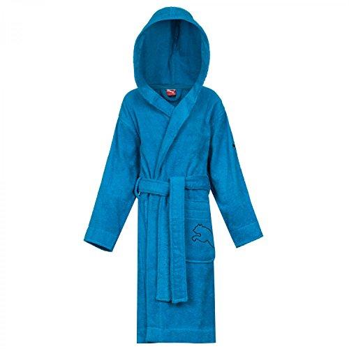 PUMA Kinder Bademantel Kids Foundation Bathrobe, Methyl Blue, 128, 511979 01