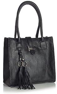 Big Handbag Shop Sac à main avec pochette à maquillage pour femme Taille M