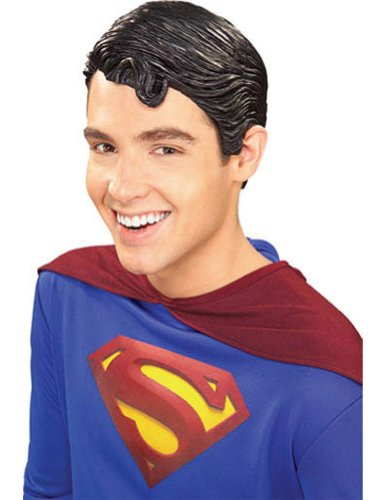 Superman Vinyl Adult Wig Halloween Costume - Most Adults