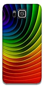 The Racoon Lean printed designer hard back mobile phone case cover for Samsung Galaxy Alpha. (Rainbows)