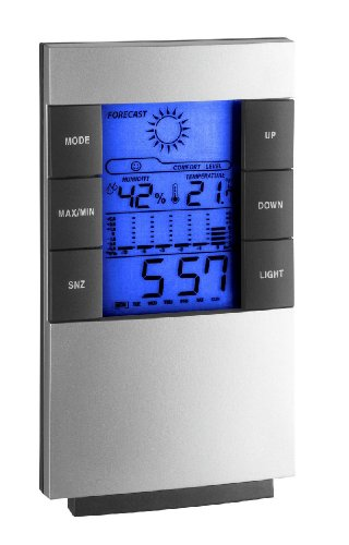 TFA Dostmann elektronische Wetterstation 35.1087, grau