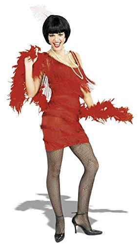 1920s Red Flapper Costume the Great Gatsby Lady Small Medium Large Fringe Dress