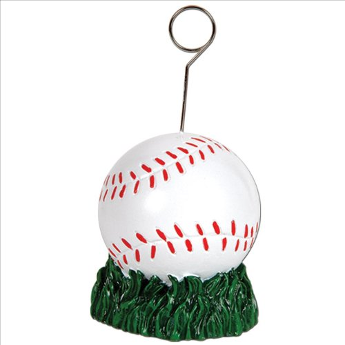 Baseball Photo/Balloon Holder Party Accessory (1 count)