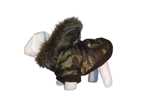 Metallic Fashion Dog Parka Coat With Removable Hood (Features Thinsulate Insulation) With Free Purchasecorner Cleaning Cloth front-94642