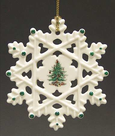 Spode Christmas Tree Snowflake Ornament