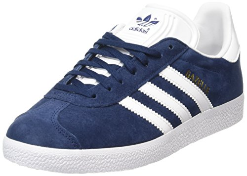 Adidas Gazelle, Scarpe Low-Top Unisex Adulto, Blu (Collegiate Navy/White/Gold Met), 40 2/3 EU