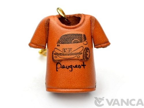 peugeot-t-shirt-leather-kh-keychain-vanca-craft-collectible-keyring-made-in-japan