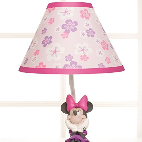 Disney Baby Minnie Mouse Love Blossoms Premier Lamp Base and Shade - 1