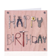 Tools Text Birthday Card