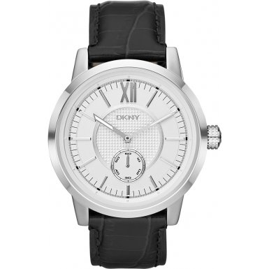 DKNY NY1520 Mens Casual Black Leather Watch