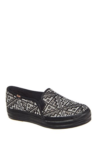 Triple Deck Stitch Platform Slip On Sneaker