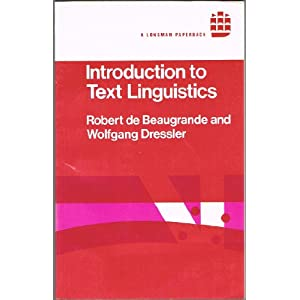 Introduction to Text Linguistics Longman Linguistics Library ...