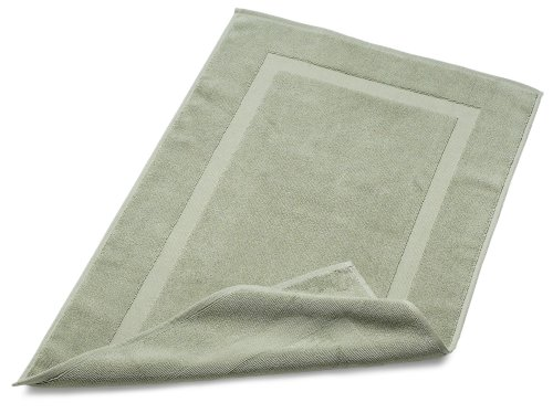 Pinzon Luxury Banded Bath Mat, Sage