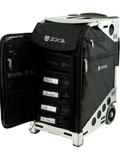 Zuca Pro Makeup Case Uk: Black Insert With Silver Frame