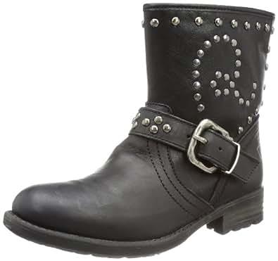 REPLAY Wakefield GBL09 .000.C0005L, Mädchen Biker Boots, Schwarz (BLACK 3), EU 32