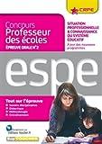 Epreuve orale Nº2 - Situation professionnelle et connaissance du système Educatif...