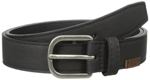 Levi's Big Boys' Spencer Stitched Logo Belt, Black, X-Large/34-36 Inches