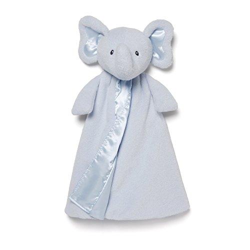 """Gund Baby Bubbles Elephant Huggybuddy Blanket, Blue, 17"""" - 1"""