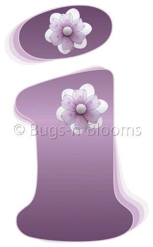 Purple flowers names cute flowers wallpapers i purple daisy flower alphabet letter name wall sticker baby nursery girls room mightylinksfo