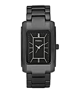 Fossil Women's CE1032 Stainless Steel Analog Black Dial Watch