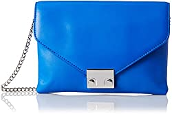LOEFFLER RANDALL Junior Lock Clutch, Electric Blue, One Size