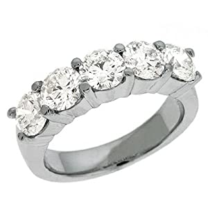 14K White Gold 2.5cttw Round Diamond Ring Band