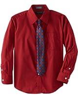 Nautica Dress Up Big Boys' Solid Broadcloth Shirt Tie Set