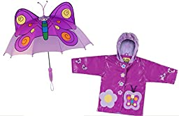 Kidorable Butterfly Rain Coat and Umbrella Set (5/6)