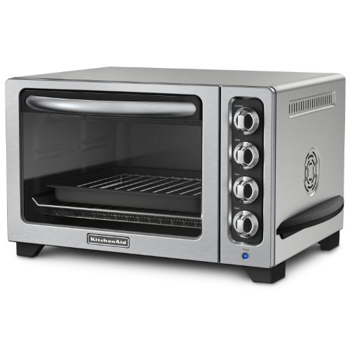 KitchenAid KCO223CU 12-Inch Convection Countertop Oven with Silver Handle, Contour Silver (Very Small Microwave Oven compare prices)