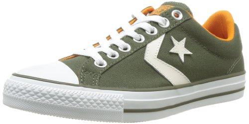 CONVERSE Unisex-Adult Star Player Ev Canvas Ox Trainers 235922-61-6 Vert Olive 8.5 UK, 42 EU