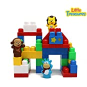 My First Forest Animal Starter Building Blocks Set Of 50 Pieces Tight Fitting And Easy To Grasp Megablocks Compatible...