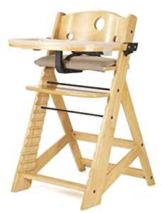 Keekaroo Height Right High Chair with Tray, Natural