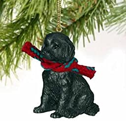 1 X Black Labradoodle Christmas Ornament by Conversation Concepts
