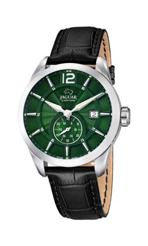 Jaguar Watches J663/3 - Orologio da polso uomo, pelle, colore: nero