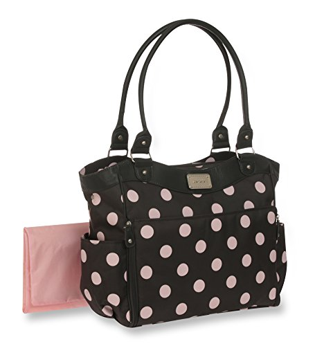 Carter's Dot Print Tote Diaper Bag, Grey/Pink