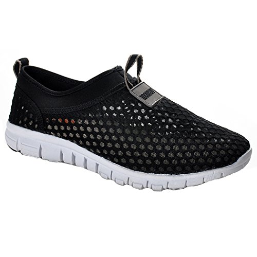 Deer Summer Flat Air Shoes ,Mesh shoes,Running,Exercise,Drive,Athletic Sneakers Black EU43