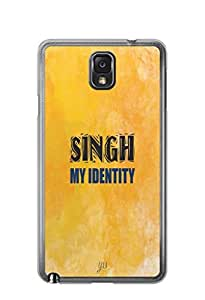 YuBingo Singh My Identity Mobile Case Back Cover for Samsung Note 3