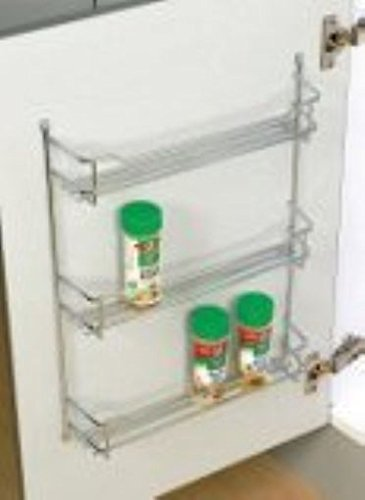 Awardpedia Behind Door Wall Mount Chrome Spice Rack 3