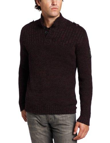 Calvin Klein Jeans Men's Marled Mixed Long-Sleeve Rib Sweater