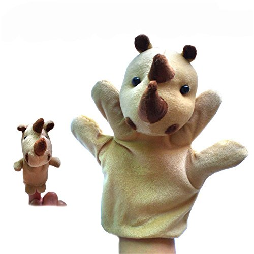 Hot 2Pcs (1 Big+1 Small) Lovely Kids Baby Plush Toys Finger Puppet Props Animals Hand Puppets^DB02911.