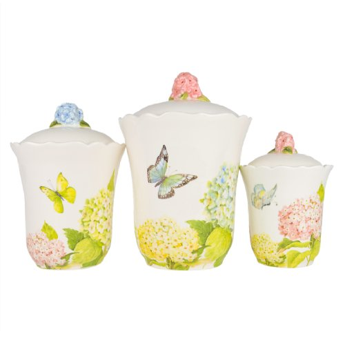 3 piece floral canister set