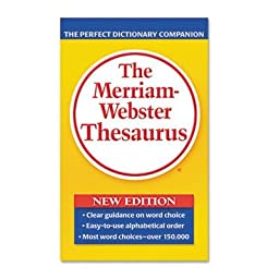 Merriam Webster - 4 Pack - Paperback Thesaurus Dictionary Companion Paperback 800 Pages \