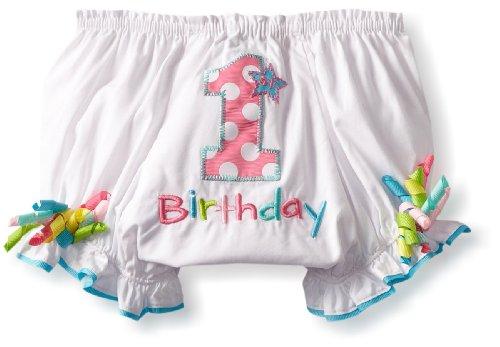 Mud Pie Baby-Girls Newborn First Birthday Girl Bloomer, Multi, 12-18 Months front-536249
