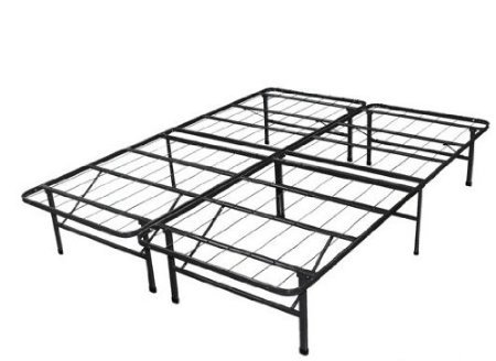 Spa Sensations Steel Smart Base Bed Frame Black, Full