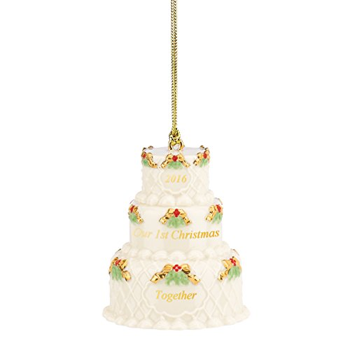 Lenox 2016 Our First Christmas Together Cake Ornament