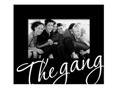 Malden 4253-46 4x6 -Inch The Gang Cursive Words Frame